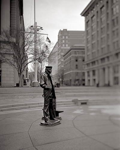 Lone Sailor Statue at the Navy Memorial in Washington DC