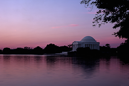 Jefferson Memroail in Washington DC photographed at Sunrise