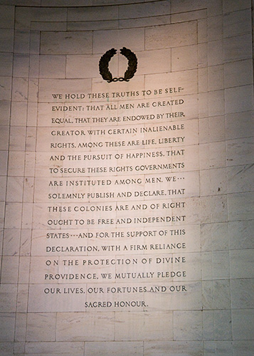 Jefferson quote from the Declaration of Independence