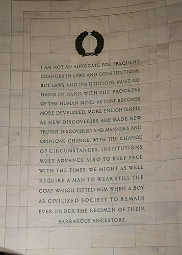 Jefferson quotation from a letter to Samuel Kerchevel