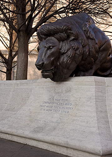National Law Enforcement Officers Memorial in Washington DC