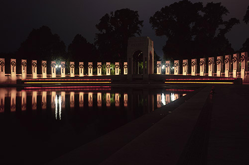 World War II Memorial Atlantic Arch - Night photo