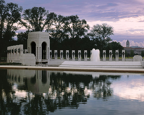 World War II Memorial Atlantic Arch Reflections