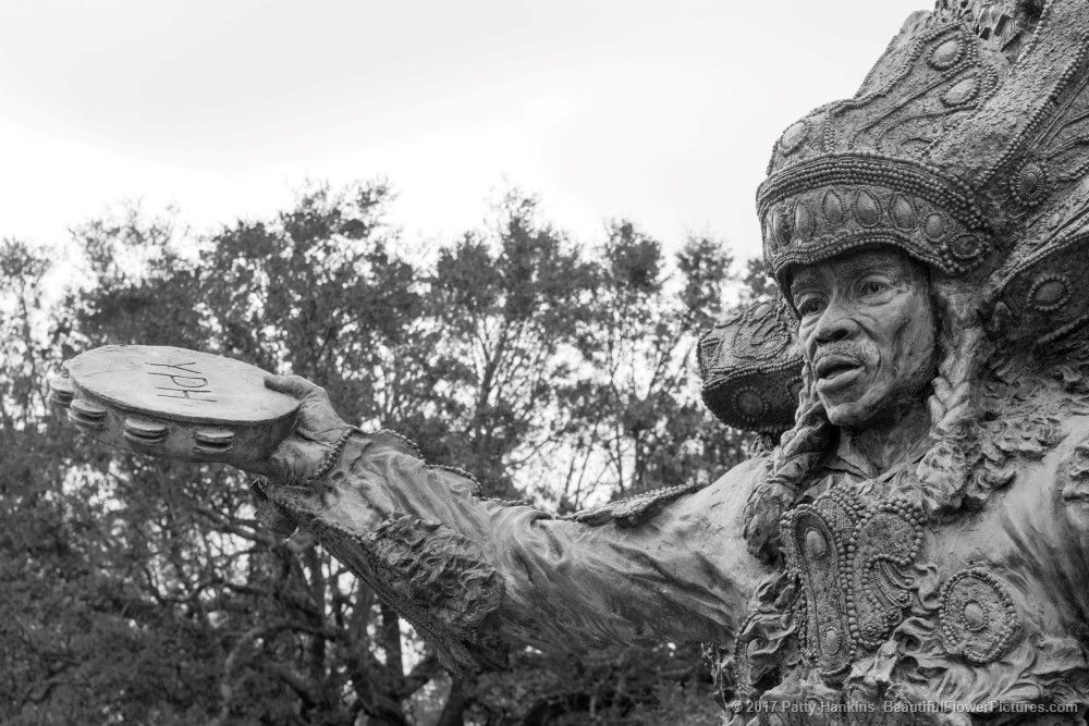 Big Chief Tootie Statue Detail, Armstrong Park, New Orleans ©2017 Patty Hankins