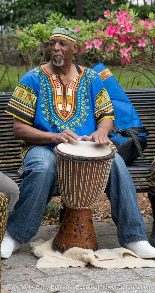Drumming in the Park, Armstrong Park, New Orleans © 2017 Patty Hankins