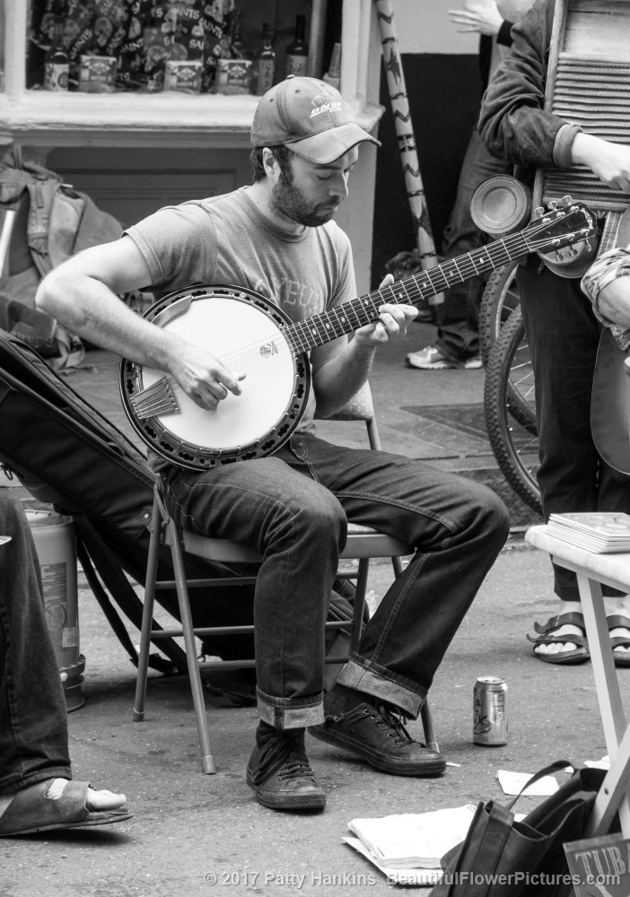 Banjo Player, French Quarter, New Orleans © 2017 Patty Hankins