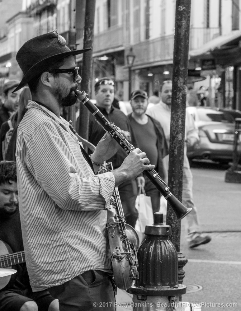 Clarinet Player, French Quarter, New Orleans © 2017 Patty Hankins
