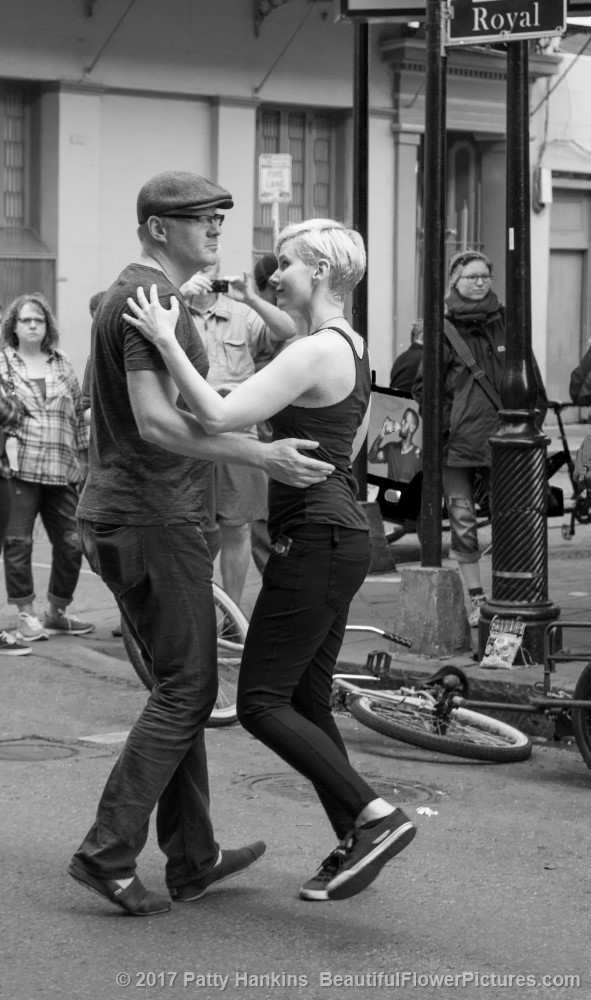 Dancing in the Street, French Quarter, New Orleans © 2017 Patty Hankins
