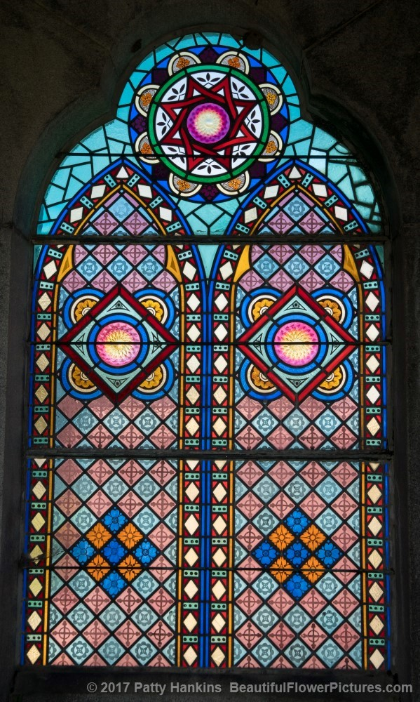 Stained Glass at Metarie Cemetery, New Orleans © 2017 Patty Hankins