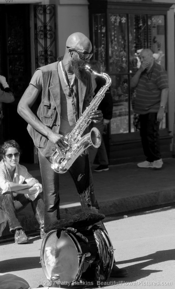Saxaphone Player, French Quarter, New Orleans © 2017 Patty Hankins