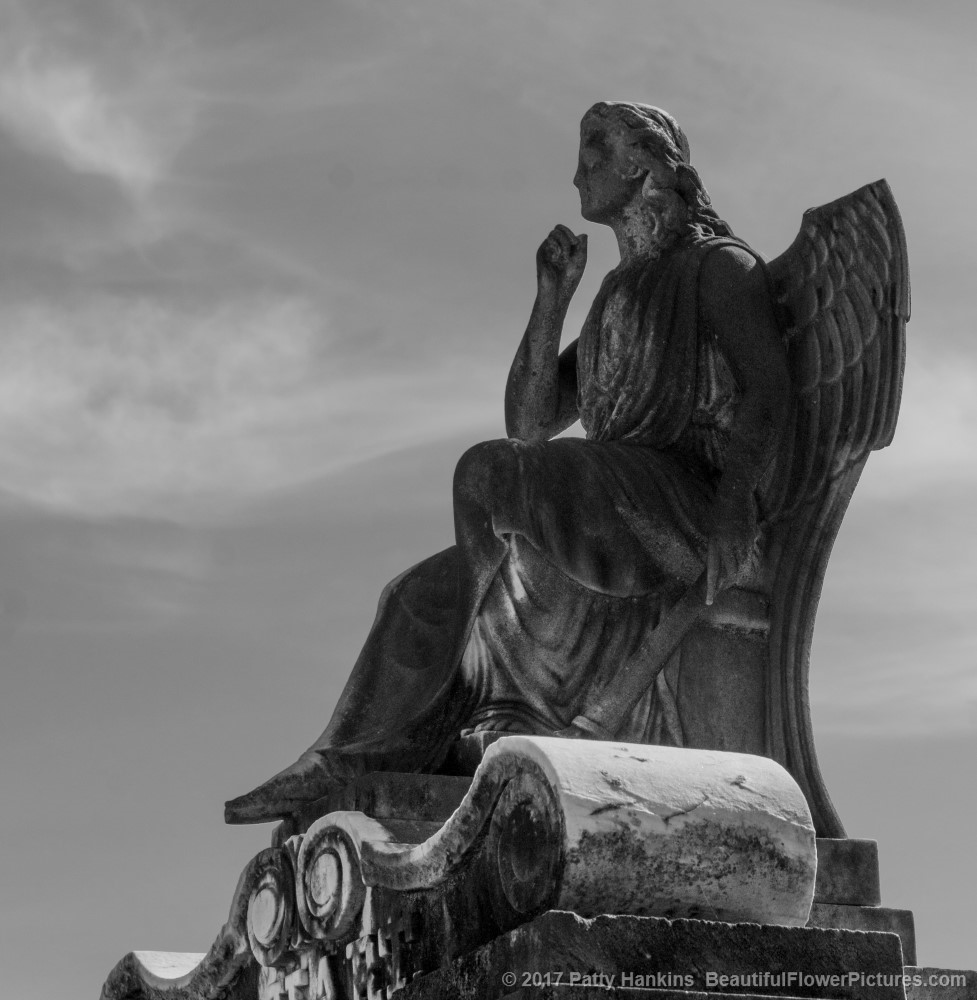 Seated Angel at Lafayette Cemetery, New Orelans © 2017 Patty Hankins