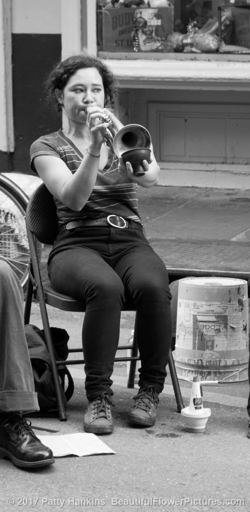 Trumpet Player, French Quarter, New Orleans © 2017 Patty Hankins