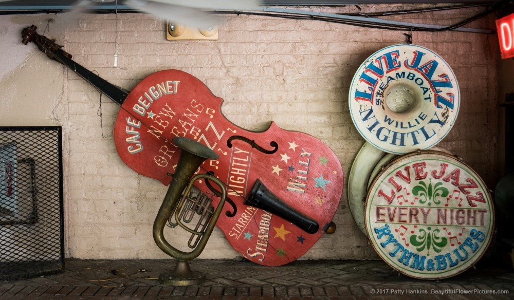 Instruments at Musical Legends Park, New Orleans © 2017 Patty Hankins