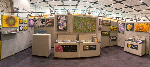 Patty Hankins' booth shot for Beautiful Flower Pictures.